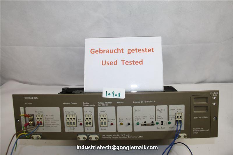 Siemens Simatic s5 alimentación eléctrica 6es5 955-3lf12 //// 6es5955-3lf12